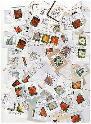 GERMANY DEUTSCHLAND DEFINITIVE KILOWARE ON PAPER APPROX 30g 150 STAMPS VFU