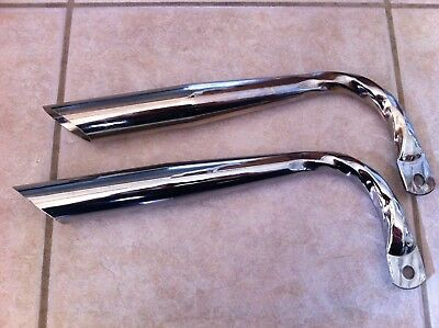 2NEW LOWRIDER BICYCLE GOLD DUAL PIPED BICYCLE  MUFFLERS  BEACH CRUISER BICYCLES