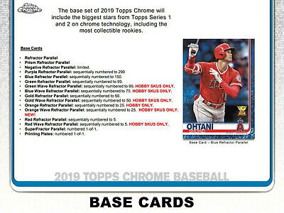 2019 Topps Chrome Baseball **Team Sets** - Quick & Safe Shipping / Bulk Discount