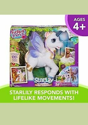 FurReal Friends StarLily My Magical Unicorn Plush Interactive Pet Light Up Horn!