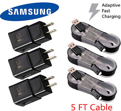 Original Adaptive Rapid Fast Charger for Samsung Galaxy S7 S6 Edge Note 5 4 LOT