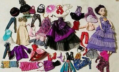 Lot 40 pc.-Bratz Monster High Doll clothes dresses accessories shoes jewelry