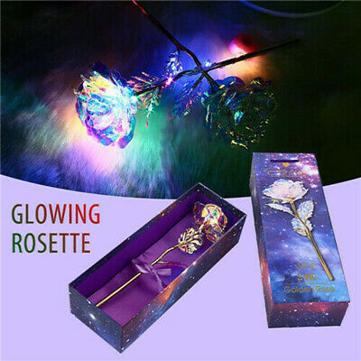 24K Gold Plated Galaxy Rose Valentine's Day Gift Girlfriend Wife Lover Presents