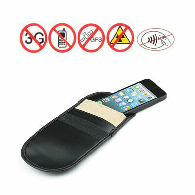 Car Key Signal Blocker Case 2 Pack GPS RS Pouch RFID Bag PU Keyless Anti-Theft