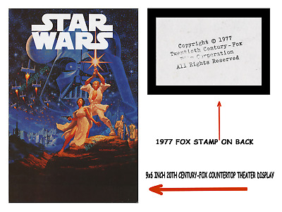 '77 Star Wars ☆ Hildebrandt ☆ Movie Theater Concession Stand Display Poster Sign