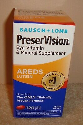 Bausch+Lomb PreserVision AREDS Lutein Eye Vitamin 120 softgels 07/2019