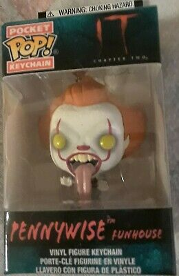 Brand New Funko Pocket Pop IT: CHAPTER TWO Pennywise Funhouse Vinyl Keychain.