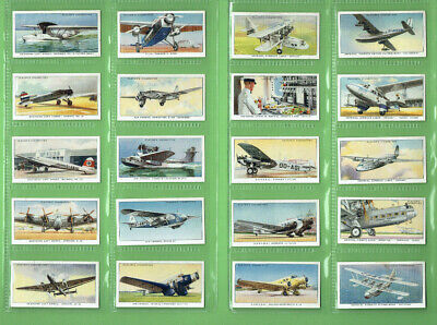 #T60.   Set(50)  1936  International Air Liners  Player & Sons Cigarette Cards