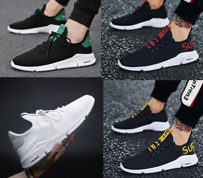 Mens womens Trainers Sneakers Breathable Sport Running Shoes Lace Up  Gym Casual