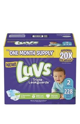 Luvs Diapers Size 2 Ultra Leakguards 216 Count