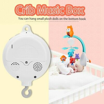 Baby Bed Crib Bell Kids Musical Mobile Cot Music Box Gift Rattles Toy Arm Holder