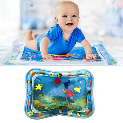 Baby Kids Water Play Mat Inflatable Infants Tummy Time Playmat Toddlers Fun Toys