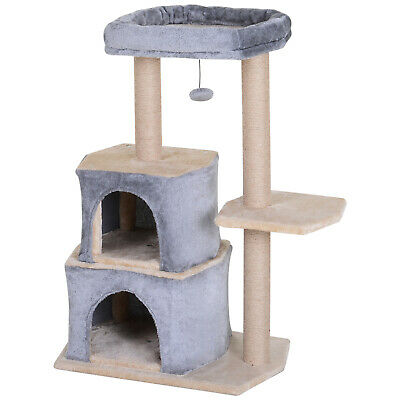 Multi-Level Cat Tree Cat Activity Center Large Perch with Sisal-Covered
