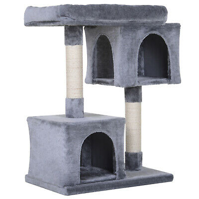 Multi-Level Cat Tree Kitty Activity Center Large Perch with Sisal-Covered