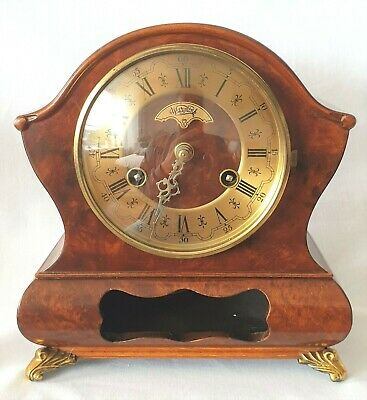 Warmink Cabinet Clock Dutch Vintage Bell Strike Pendulum Vintage Holland