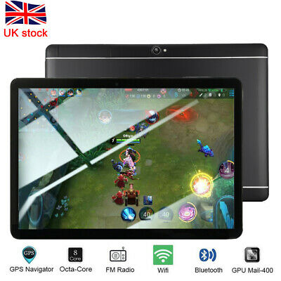 10.1 Tablet PC 64G Core Android 8.1 Dual SIM&Camera Wifi GPS Phone Phablet Black