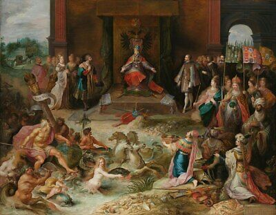 """oil painting on canvas """"Allegory on the Abdication of Emperor Charles V """""""