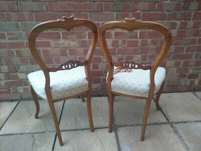 Pair of Queen Anne Balloon Back Chairs