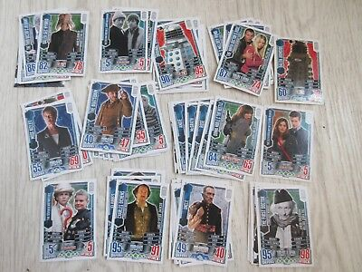 Bundle Lot of 67 Doctor Who Alien Attax Topps Trading Cards TCG