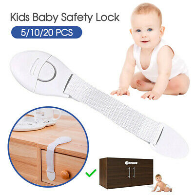 5/10/20X Child Kids Baby Safety Lock For Door Drawers Cupboard Cabinet Adhesive