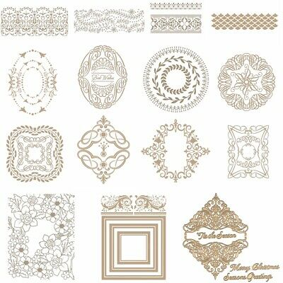 Lace Frame Round Oval Cover Hot Foil Plate Dies DIY Craft Stencil Scrapbooking