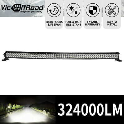 50inch CREE LED Light Bar Curved Spot Beam Dual Row Work Driving Lamp 4WD 4X4