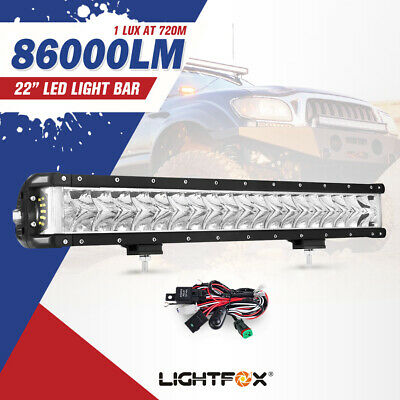 22inch Cree LED Light Bar Side Shooter Spot Flood Offroad Driving 4x4