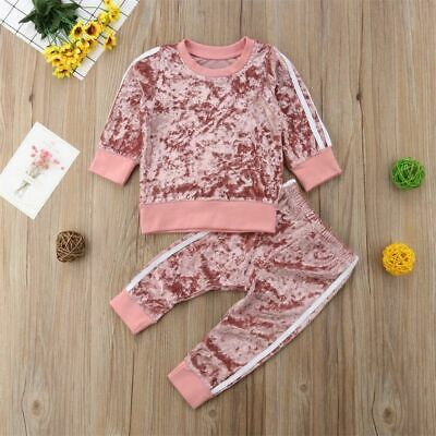 Toddler Baby Girls Kids T-shirt Tops+Long Pants Leggings Outfit Clothes Set 2PCS