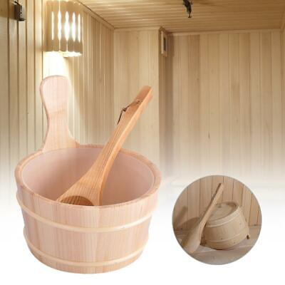 4L Sauna Wooden Bucket And Ladle Kit Steaming Bathroom Equipment Accessories