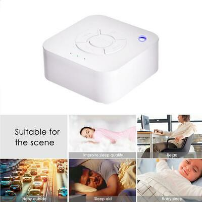 White Noise Sound Machine Sleep Therapy Auto-Off Timer Rechargeable USB Charging