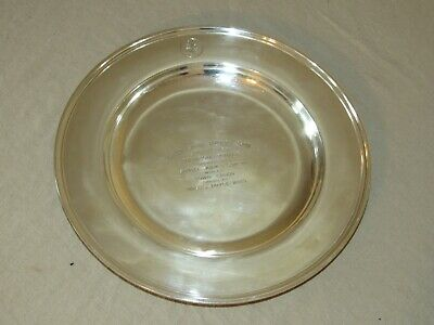 Sterling Silver Green Spring Hunters Show Kirk Charger 820 Grams Monkton MD