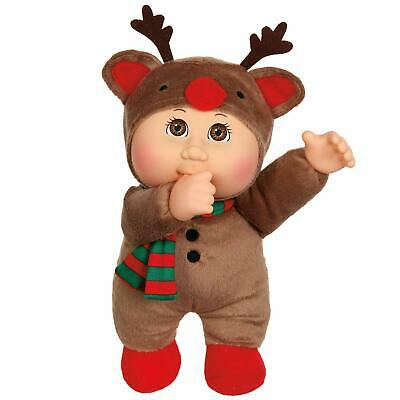 Cabbage Patch Cuties Holiday Helper, Cocoa Reindeer - Soft Body Baby Doll, 9""