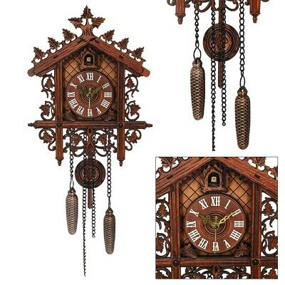 UK Cuckoo Europea House Clock Wall Clock Large Art Vintage Home Decor Modern New
