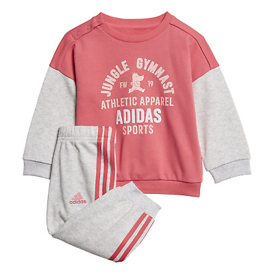 adidas Performance Klein Kinder Baby Anzug Graphic Terry Jogginganzug pink