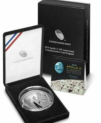 2019 5 oz Proof Apollo 11 American Silver Commemorative in O.G.P (pfj)