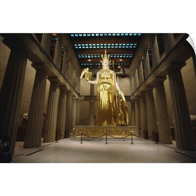 "Wall Decal ""Statue of the Greek Goddess Athena, The Parthenon, Centennial Par"