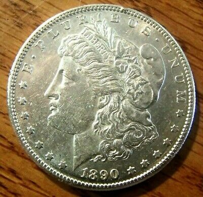 1890-S  Morgan Silver Dollar Nice High Grade Circulated Coin #1