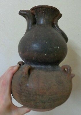 Antique  Khmer Angkor Cobra Head Designed  Celadon Stoneware Water Vase