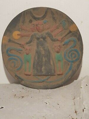 Rare Antique Ancient Egyptian Magic Stela Protection Demons snack dog1720-1640BC