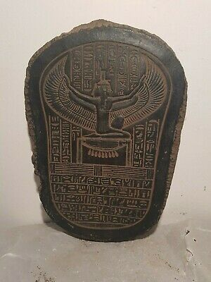 Rare Antique Ancient Egyptian Stela God Isis Winged Health medicine1780-1690BC
