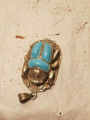 Rare Antique Ancient Egyptian Silver Scarab Good Luck happy life 1840-1760BC