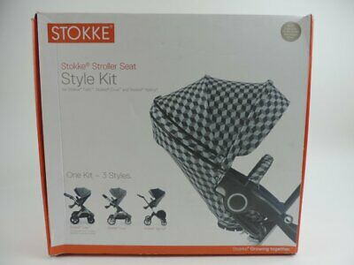 Stokke Stroller Seat Style Kit Fabric Pack Grey Cube Baby Accessories