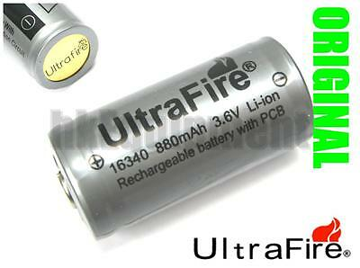 Ultrafire 16340 RCR123 CR123A 3.6v Li-ion Rechargeable Protected PCB Battery x4