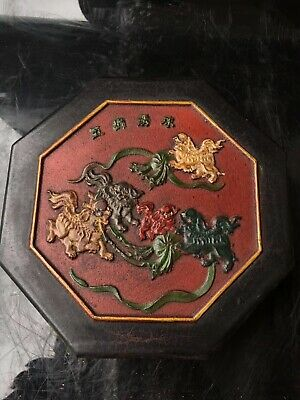 5 Division of ancient Chinese folk collection jewelry box   83051