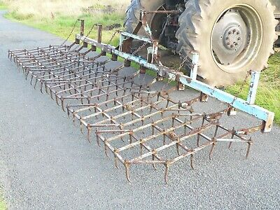 Parmiter 20' Folding Harrow Drag Harrow Spike Field Harrow  Zig Zag Harrow