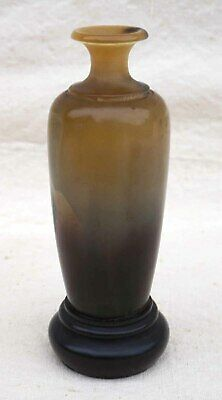Chinese Small Altar Vase Hand Carved Ox Horn Qing