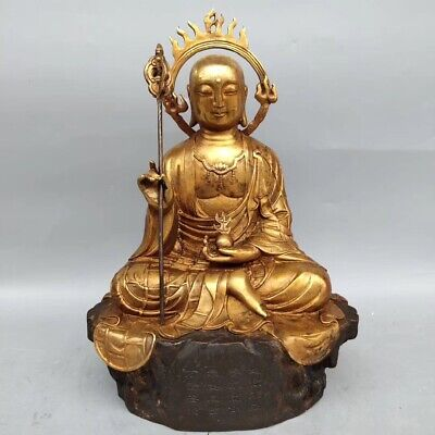 China ancient brass buddha statue folk collection AAA 003