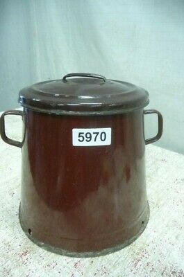 5970. Alter Emaille Email Topf Old enamel pot