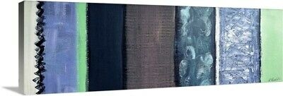 """Canvas Art Print """"Textured Sections Blue And Mint"""""""