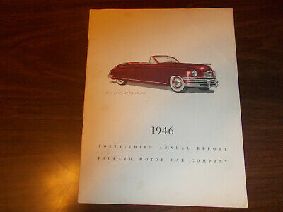 1946 Packard Annual Report / Nice Pictures / Scarce !!